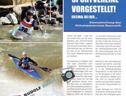 SVB-Kanuabteilung im Bayreuth Journal