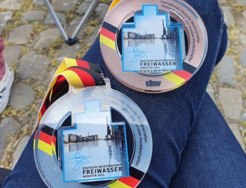 Silber, Bronze und ein 4. Platz bei der Deutschen Meisterschaft im Freiwasserschwimmen